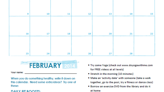 February 2014 Fitness Challenge