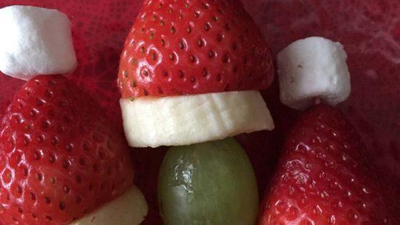Grinch Fruit Kabobs