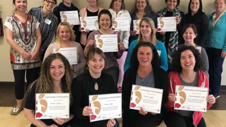 Participants and trainers for the June 2019 Healthy Start for Active Kids in Moncton, May 2019.